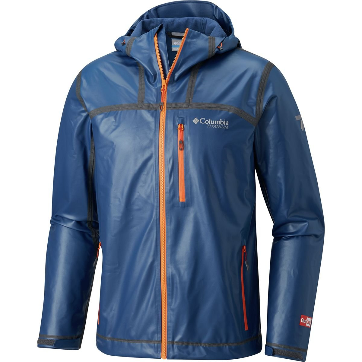 Columbia Titanium Outdry Ex Stretch Hooded Shell Jacket - Men's Carbon, XL