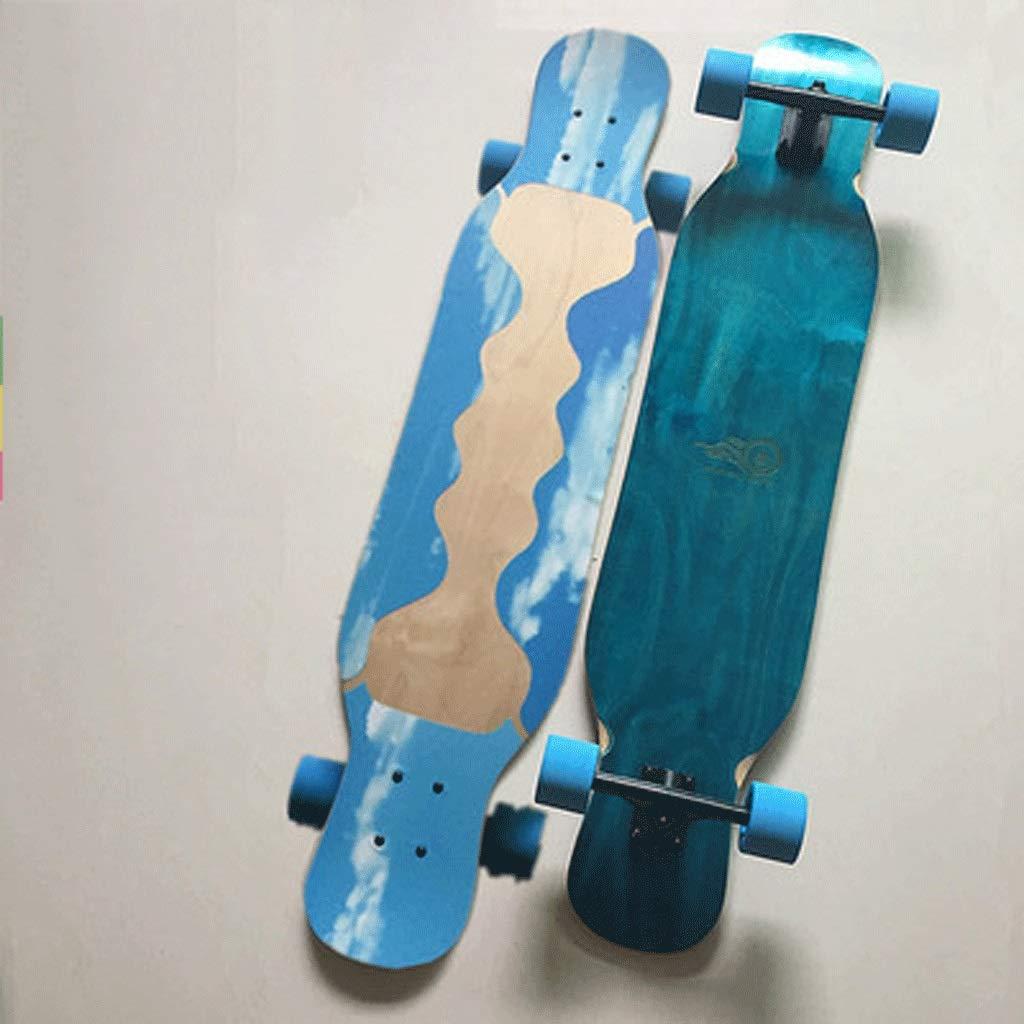 最も完璧な 初心者スケートボードロングボードダンスボードスケートボードアダルトスケートボード男の子と女の子ロード両側傾斜ボード Flame (色 blue : blue Flame red) B07KTW22PQ Hollow blue Hollow blue, カーショップナガノ2号店:b58615c6 --- a0267596.xsph.ru
