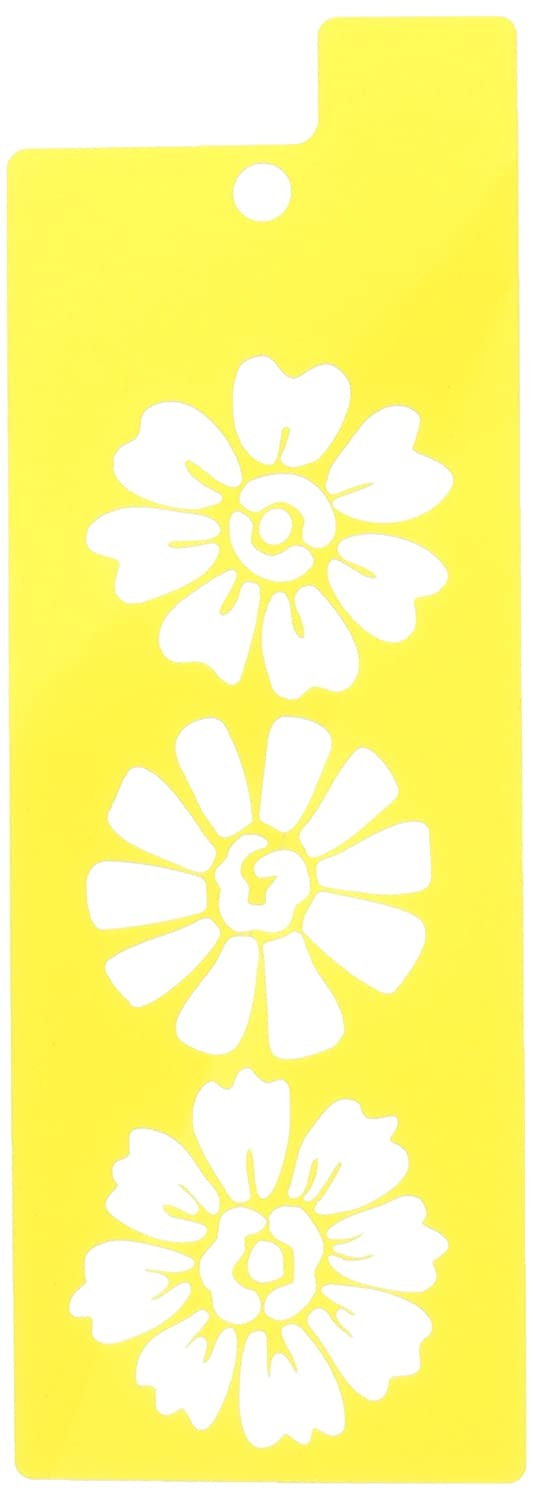 """1//2/""""- 2 1//2/"""" inches 8 X 10 STENCIL Floral Element 5 Petal Flowers in 5 sizes"""