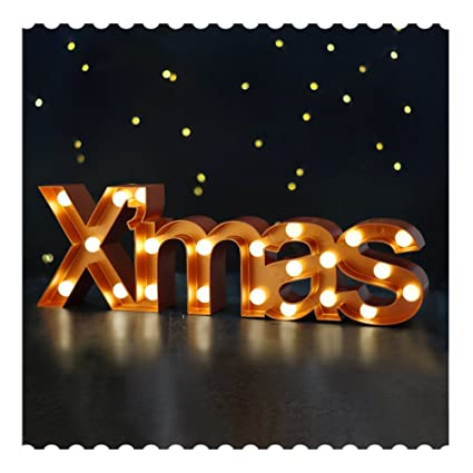 bright zeal 55 tall large xmas christmas marquee sign letters bronze 6hr timer