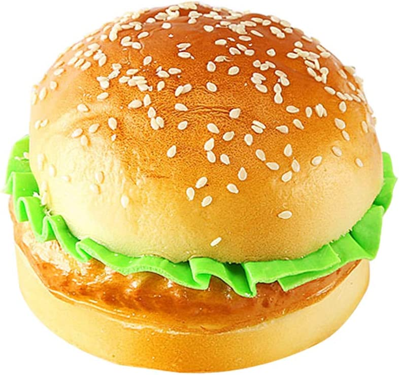 R STAR Artificial Bread Fake Bread Simulation Food Model Kitchen Prop, Hamburger