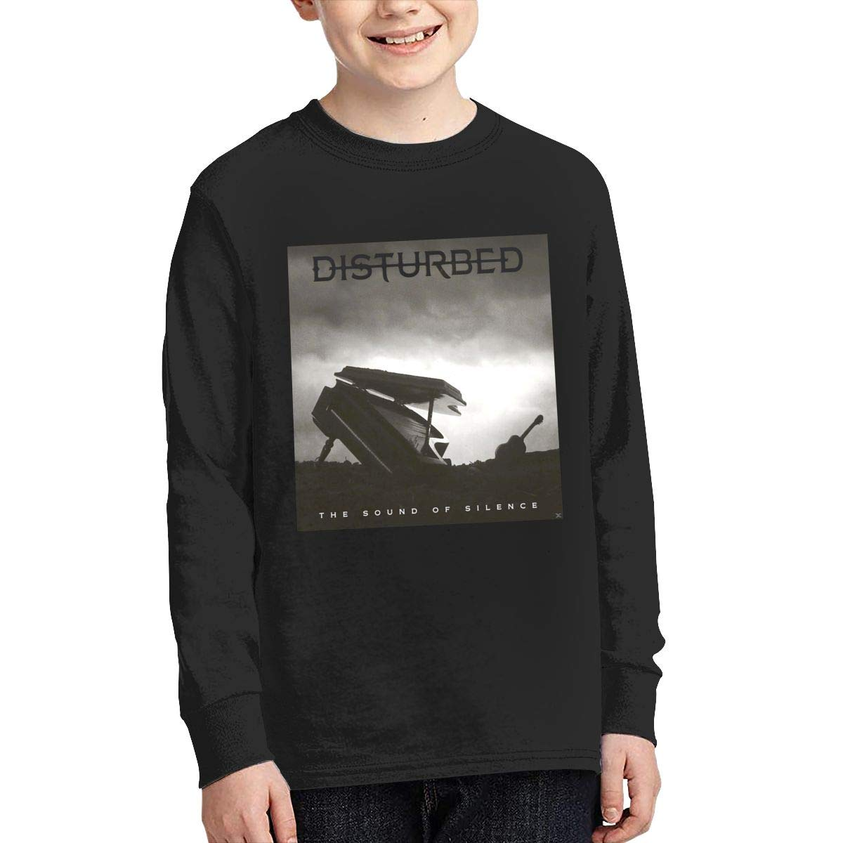 MichaelHazzard Disturbed Tour 2019 Youth Comfortable Long Sleeve Crewneck Tee T-Shirt for Boys and Girls