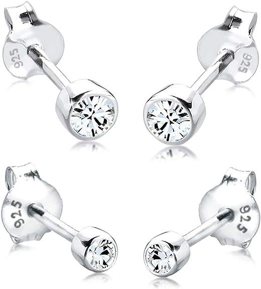 Oferta amazon: Elli Pendientes para damas set básico con cristales Swarovski® en plata esterlina de ley 925
