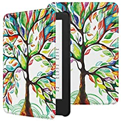TiMOVO Case Fits All-New Kindle (10th Generation, 2019 Release), Premium Thin Lightweight Leather Cover with Auto Wake/Sleep Fits Amazon Kindle, Not Fit Kindle Paperwhite – Lucky Tree