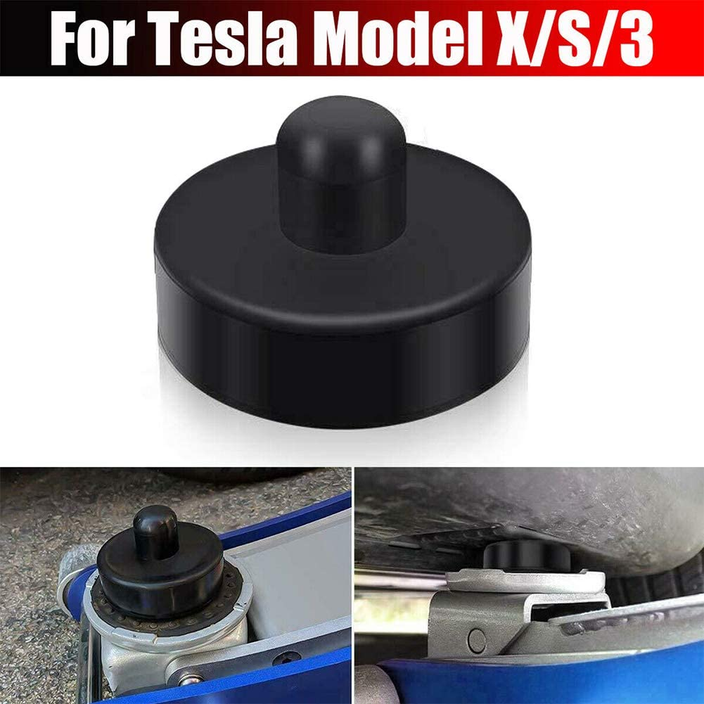 MCLseller 4 Pcs Car Rubber Lift Point Adapter Jack Pad or Tesla,Rubber Adapter,Rubber Pad,Jack Guard Adapter Tool
