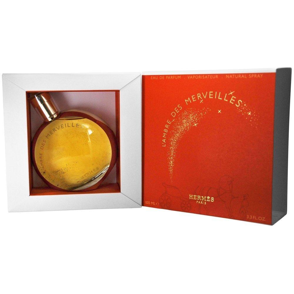Hermes L'Ambre Des Merveilles for Women Eau De Parfum Spray, 3.3 Ounce 3346131792900