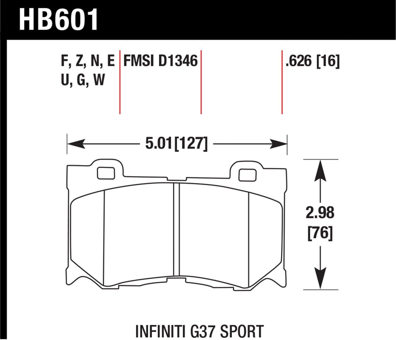 Hawk HPS Performance Street Brake Pads G35,G37