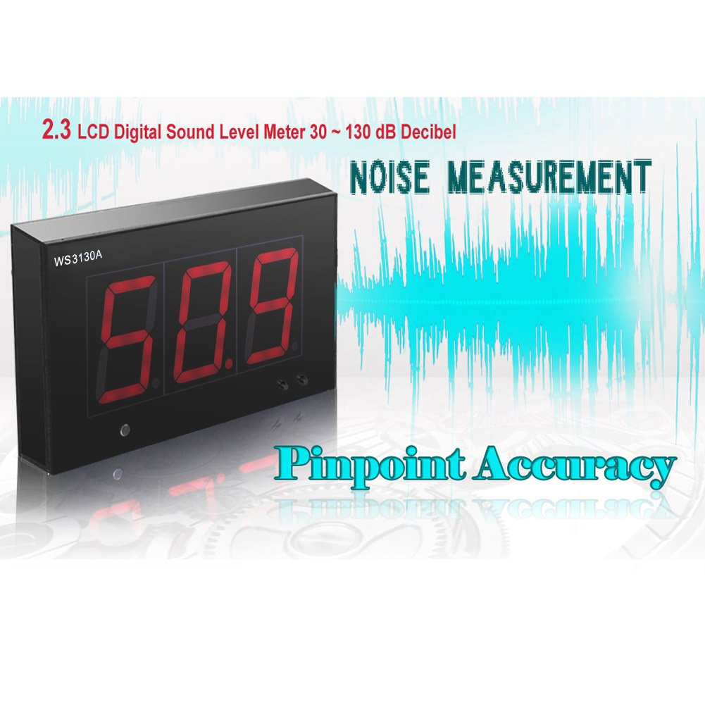 Koolertron 2.3 LCD Digital Sound Level Meter 30 ~ 130 dB Decibel Noise Measurement