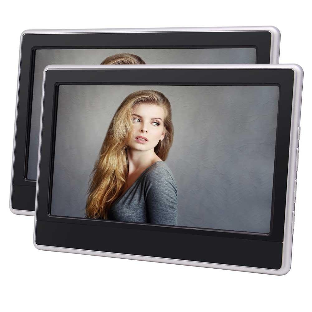 Eincarツイン11.6インチヘッドレストカーDVDプレーヤーHD 1366 * 768解像度TFT LCDスクリーン取り外し可能な自動モニタのサポートHDMI FM IRトランスミッターUSB SDの1080Pビデオ&リモートコントロール B0788V7RNC