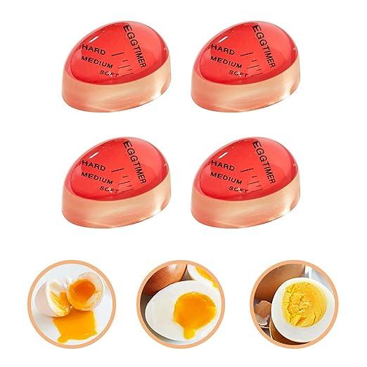 Temporizador de huevos, 4 unidades, resistente al calor, mediano ...