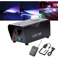 Yimosi - Máquina de humo de 500 W con luces LED RGB y mando a distancia para DJ, Club, boda, cumpleaños, fiesta…