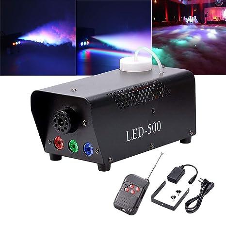 Wireless Remote DJ Club 500W Nebelmaschine RGB LED Beleuchtung Fog Effekt Licht