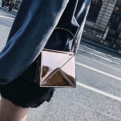 Verano Bolsa Bolsa Plata Oro de Bolsa de Súper Mensajero Salvaje Coreana Nueva de A Handbag Color Fiesta La EaHIqI