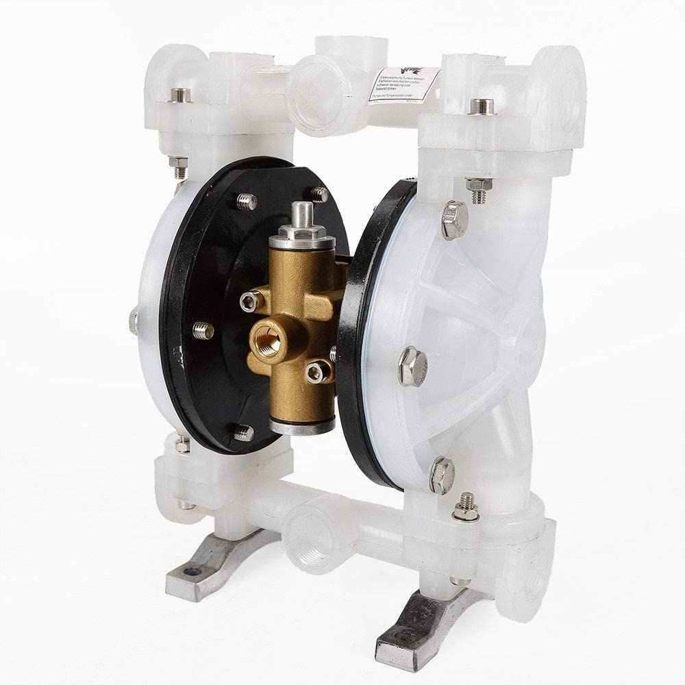QBY-15PP Iron Petroleum Fluids 0-1m/³//H Discharge Sewage for Chemical Industrial Use Air-Operated Double Diaphragm Pump 1//2 inch Inlet /& Outlet Polypropylene