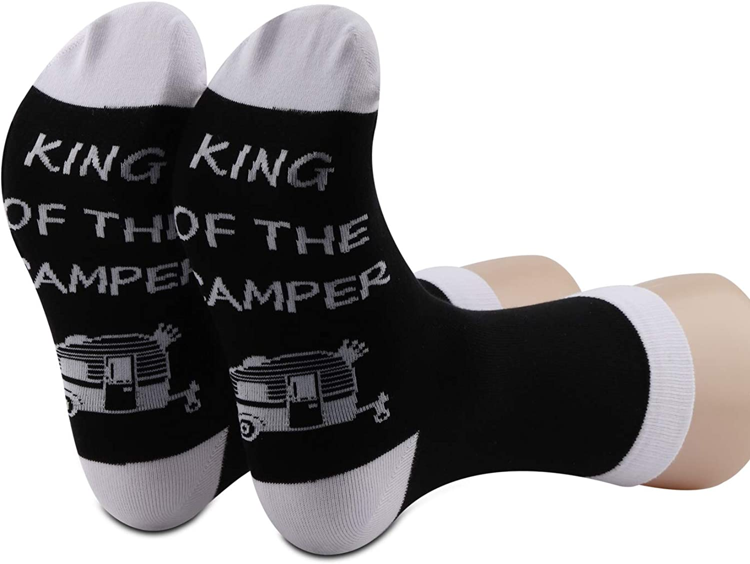 Queen of the Camper Socks Camping Socks Gifts For Her If you can read this socks