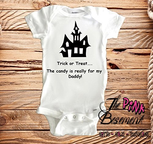 9826b5029 Amazon.com: HANDMADE Trick or treat Daddy Cat Babies Onesies Funny Evil  Goth Gothic Halloween Witch Name Personalized Boys Girls Baby Clothes  Newborn Gift ...