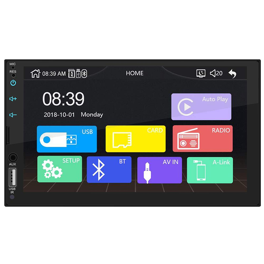 RONSHIN Radio est/éreo HD de 7 Pulgadas para Reproductor Multimedia Apple CarPlay