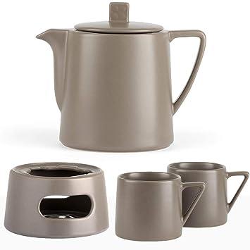 Bredemeijer Keramik Teekanne Set Keramik Grau 10 Liter Mit Tee