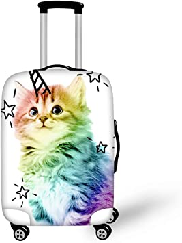 LedBack 3D Printing Animal Suitcase Protector with Zipper Travel Luggage Cover