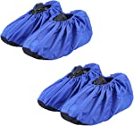 JIAQUAN 2 Pairs Non Slip Washable Reusable Shoe Covers Boot Covers,