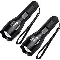 FAGORY Linterna LED Alta Potencia - Mini Potentes 2000 Lúmenes Antorcha de Mano, 5 Modos, Zoomable, para Ciclismo…