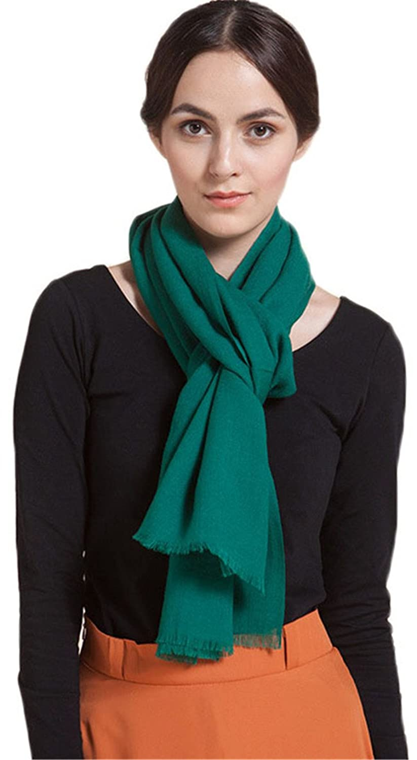 """Women's Soft 100% Pure Wool Wraps Shawls Scarf Extra Large 70""""x27"""""""