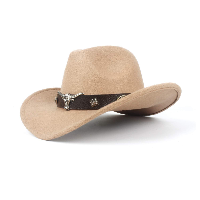 BJYG Unisex Frauen M/änner Hondo Cow Fedora Kopf G/ürtel Wolle Western Cowboy Hut Gr/ö/ße 56-58CM Cowboy Hut Farbe: Grau, Gr/ö/ße: 56-59cm