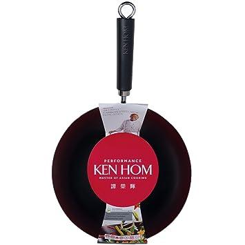 Ken Hom 20 cm Acero al Carbono Acero Rendimiento Anti-adherente Mini Wok, Negro: Amazon.es: Hogar