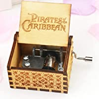 EITHEO Wooden Music Box Antique Carved Hand Crank Game of Thrones Theme Music (Pirates of Caribbean)