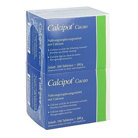 calcipot comprimidos masticables de cacao 200 unidades