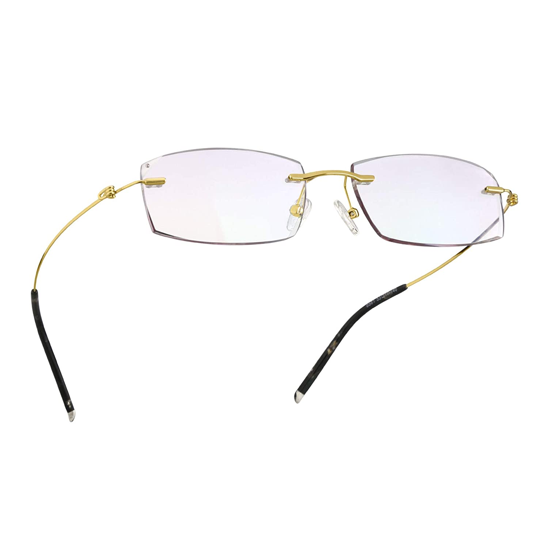 d8eb7ba98f21 Amazon.com: LifeArt Blue Light Blocking Rimless Glasses with Diamond,Computer  Reading Glasses,Reduce Headaches&Eyestrain,Stylish for Women/Men +1.00:  Health ...