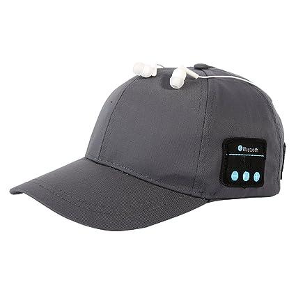 Boné com Fone de Ouvido Bluetooth Wireless sem fio Earphone Baseball (Cinza) f81611d40a4