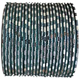 Mock Mirror 48 Piece Light Teal Green Indian Bangles set size Small 2.6