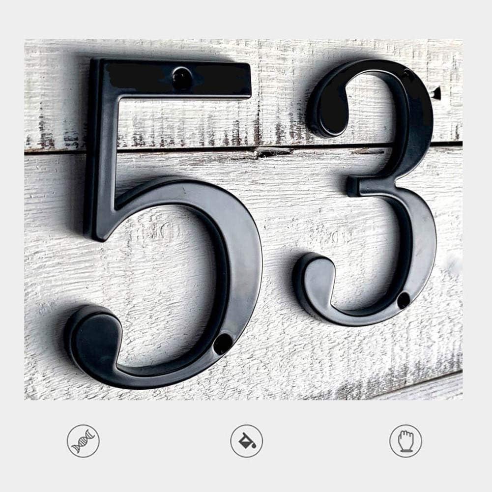 13 cm de Altura Acero Inoxidable Moderno casa Puerta buz/ón direcci/ón se/ñal 0 9 n/úmero Acero Inoxidable Kinnart N/úmero de casa 0 9 de Acero Inoxidable Negro Flotante f/ácil de Instalar