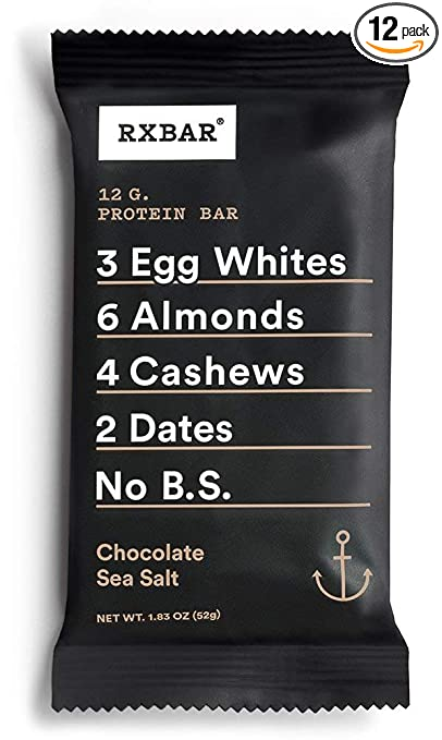 Product thumbnail for RXBAR Whole Food Protein Bar: Chocolate Sea Salt