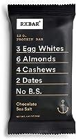 RXBAR Whole Food Protein Bar, Chocolate Sea Salt, 1.83oz Bars, 12 Count