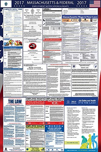 2017 Massachusetts and Federal Labor Law Poster Laminated