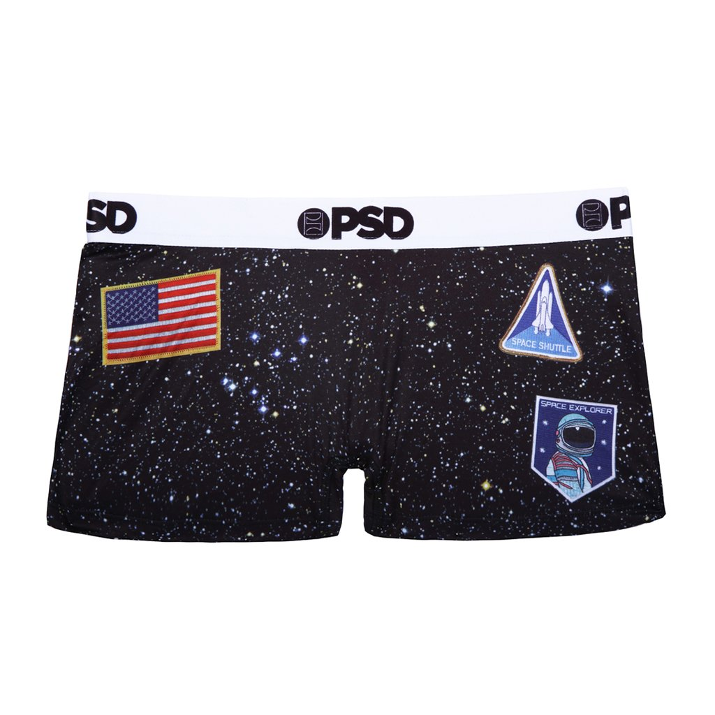 PSD Underwear Women's Space Short, Black, Large