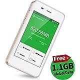 【公式販売】GlocalMe G3 モバイルWiFiルーター simフリー 1.1ギガ分のグローバルデータパック付け 4G高速通信 世界100国・地区以上対応 iPhone・Xperia・Huawei・Galaxy・iPadなど対応 5350mAh充電バッテリー搭載 ポケットwifi(ゴールド)