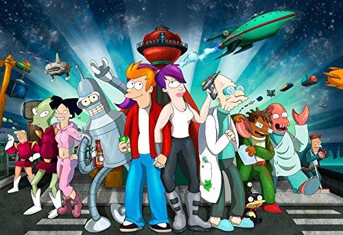 Futurama TV Show Poster Cartoon Movie