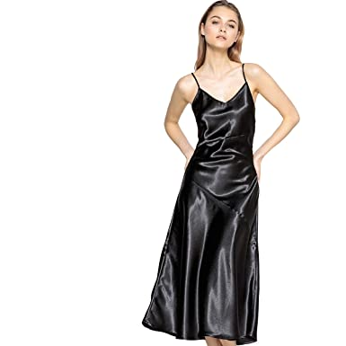 adaae282fde96 La Redoute Collections Womens Satin Dress with Crossover Straps at ...
