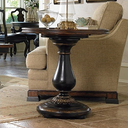Hooker Furniture Grandover Round Pedestal End (Maple Round Accent Table)