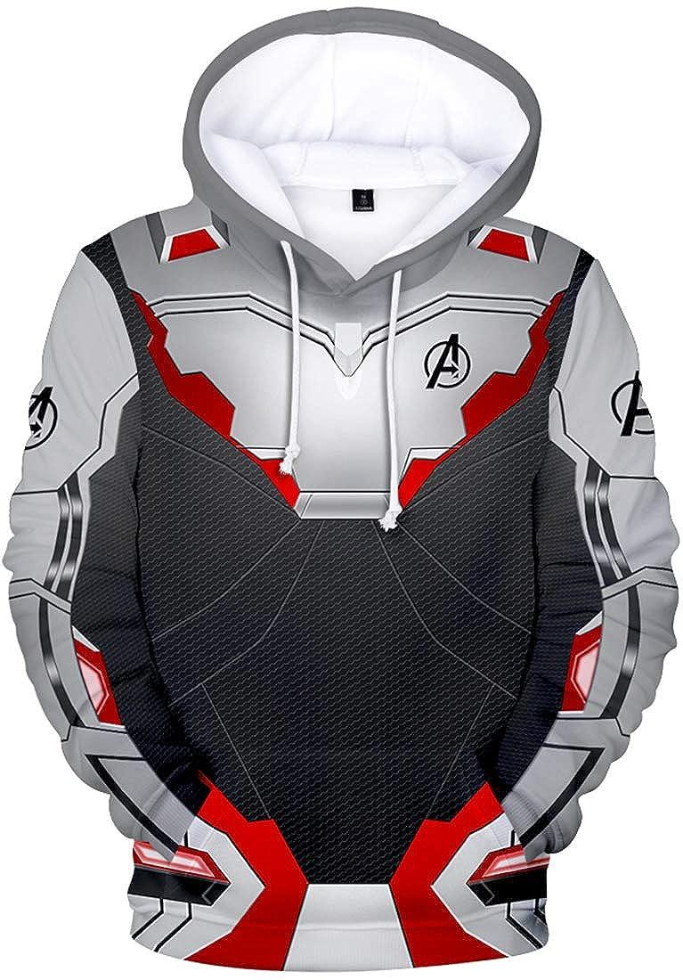 OLIPHEE Felpe con Cappuccio The Avengers: Endgame Felpa Costume Cosplay Giacca con Cappuccio Sportiva 3D Cool per Ragazzi e Uomo