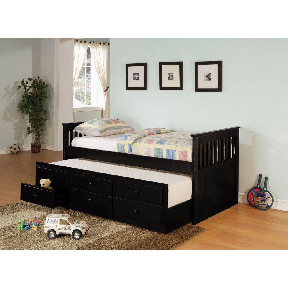 コースター家具300104 La SalleツインCaptain 'sベッドでブラック、   B008CJO0AM