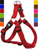 DDOXX Nylon Step-In Dog Harness sizes | for large, medium & small dogs | adjustable | Red, XXS - 3/8 x 10-13.5 inch | [Lead & Collar sold separately]