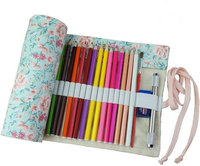Chakil estuche para lápices bolsa de maquillaje estuche de artista carpeta de pinceles estuche para pinceles niños 43 x 20 cm 1 unidad: Amazon.es: Oficina y papelería