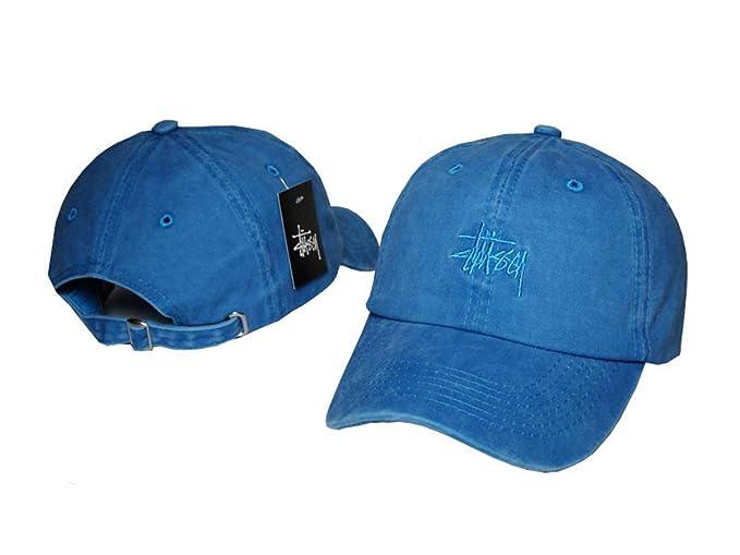 Aidan Ellazar Stussy Cap Men   Women s Baseball Snapback Hats Blue 2 ... 7ee061a939