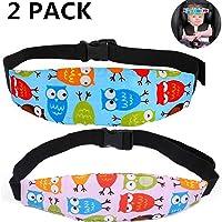 PUBAMALL Soporte del cuello de la cabeza del asiento de seguridad para bebés, posicionador del sueño del asiento de seguridad para niños (2 paquetes)