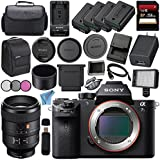 Sony ILCE7SM2/B Alpha a7S II Mirrorless Digital Camera (Body Only) + Sony FE 100mm f/2.8 STF GM OSS Lens SEL100F28GM + 256GB SDXC Card + NP-FW50 Lithium Ion Battery + External Rapid Charger Bundle