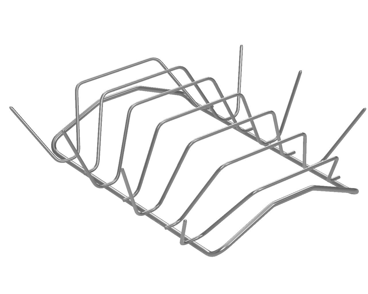 Proclivity Premium Rib Rack - Holds 6 Rib Racks for Grilling & Barbecuing - Stainless Steel